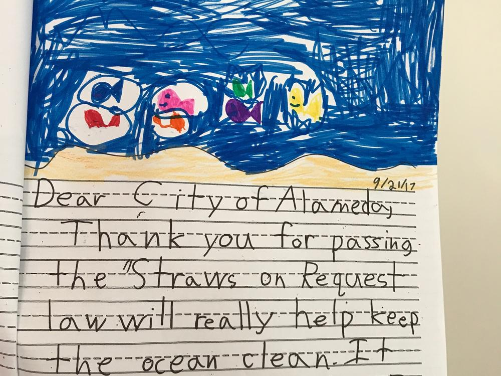 Letter from student thanking City Council